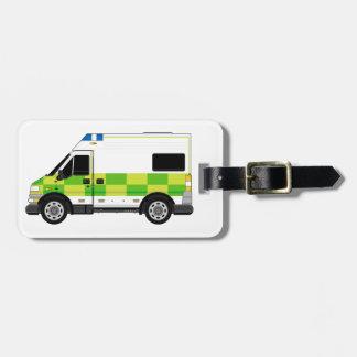 Cartoon Ambulance Tag For Bags