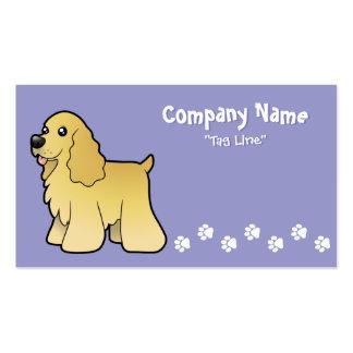 Cartoon American Cocker Spaniel Business Card