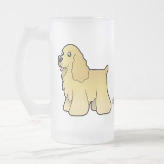 Cartoon American Cocker Spaniel 16 Oz Frosted Glass Beer Mug