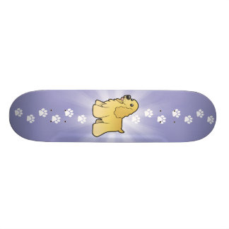 Cartoon American Cocker Spaniel Skateboard
