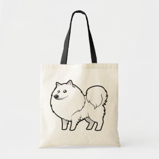 Cartoon American Eskimo Dog / German Spitz Bags
