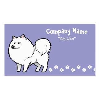 Cartoon American Eskimo Dog / German Spitz Business Card