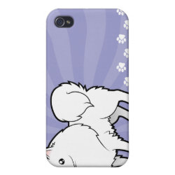 Cartoon American Eskimo Dog / German Spitz Cover For iPhone 4