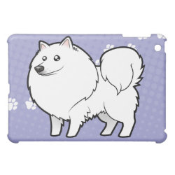 Cartoon American Eskimo Dog / German Spitz Cover For The iPad Mini