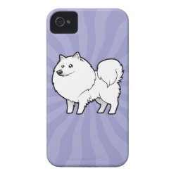 Cartoon American Eskimo Dog / German Spitz iPhone 4 Case-Mate Case