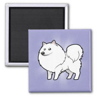 Cartoon American Eskimo Dog / German Spitz Magnet