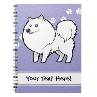 Cartoon American Eskimo Dog / German Spitz Notebooks