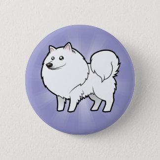 Cartoon American Eskimo Dog / German Spitz Pinback Button