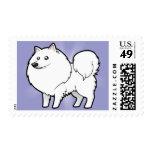 Cartoon American Eskimo Dog / German Spitz Postage