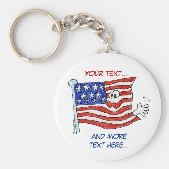 Cartoon American Flag Cute Keychains