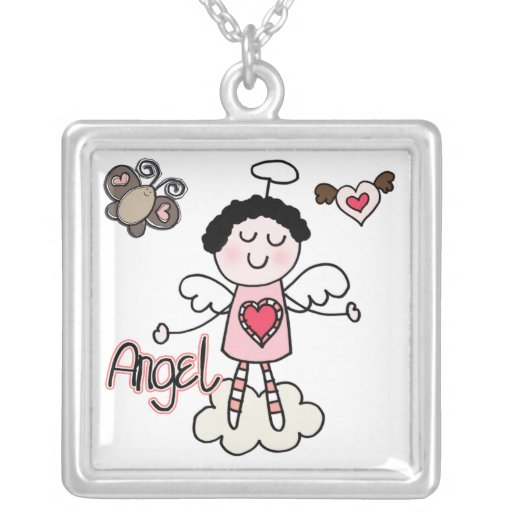 Cartoon Angel Personalized Necklace