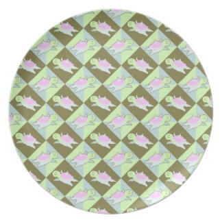 Cartoon Angel Turtle Pattern Dinner Plates