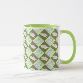 Cartoon Angel Turtle Pattern Mug