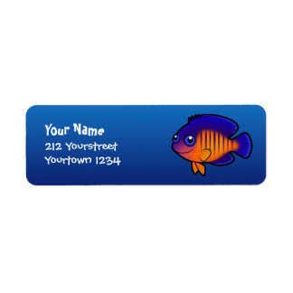 Cartoon Angelfish 1 Label