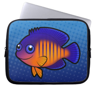Cartoon Angelfish 1 Laptop Sleeve
