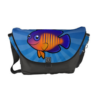 Cartoon Angelfish 1 Messenger Bag