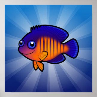 Cartoon Angelfish 1 Poster