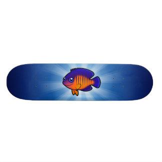 Cartoon Angelfish 1 Skate Board