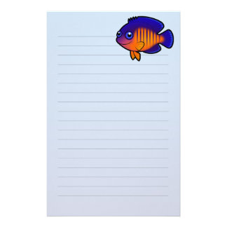Cartoon Angelfish 1 Stationery