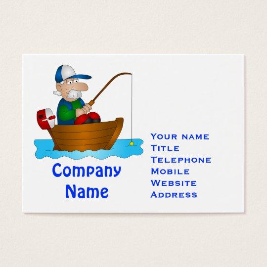 Cartoon angler business card
