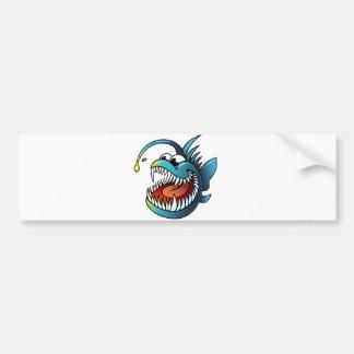 Cartoon Angler Fish Car Bumper Sticker