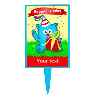 """Cartoon Animal"" Child's Birthday Cake Pick"