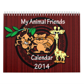 Cartoon Animal Friends 2014 Calendar