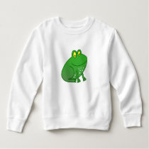Cartoon Animal Kids Sweater - Green Frog