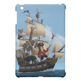 Cartoon Animal Pirate Ship iPad Mini Covers