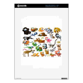 Cartoon animals design iPad 2 decal