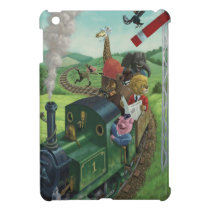 cartoon animals enjoying a train journey case for the iPad mini
