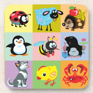 cartoon animals for kids coaster