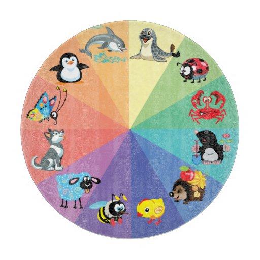cartoon animals for kids cutting board