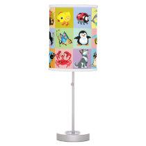 cartoon animals for kids desk lamp