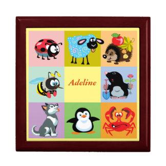 cartoon animals for kids keepsake box