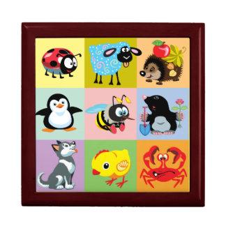 cartoon animals for kids gift box