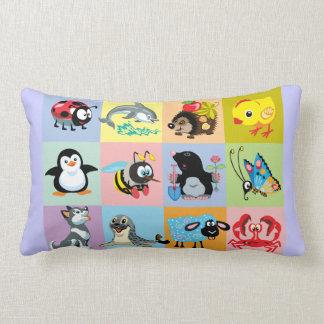 cartoon animals for kids lumbar pillow