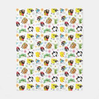 cartoon animals for kids fleece blanket