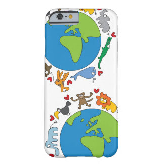 Cartoon Animals Of The World iPhone 5 CaseMate Barely There iPhone 6 Case