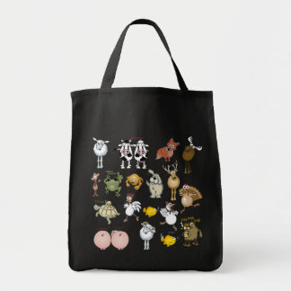 Cartoon animals. tote bag