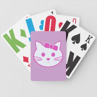 Cartoon Anime Cat Face Playing Cards