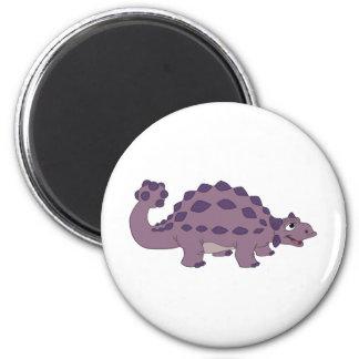 Cartoon Ankylosaurus 2 Inch Round Magnet