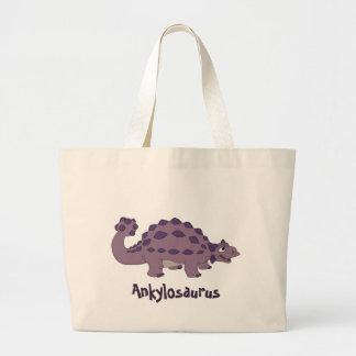 Cartoon Ankylosaurus Large Tote Bag
