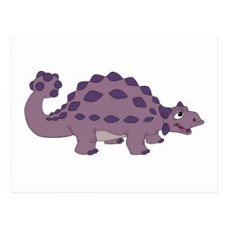 Cartoon Ankylosaurus Postcard