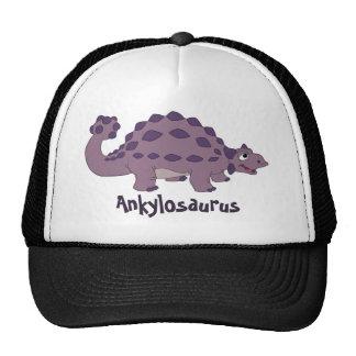 Cartoon Ankylosaurus Trucker Hat