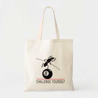 Cartoon Ant on 8ball Challenge Yourself Tote Budget Tote Bag