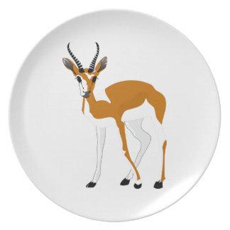 Cartoon Antelope Plates
