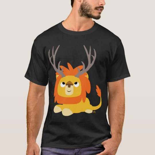 Cartoon Antlered Lion adult T-shirt