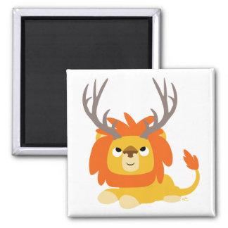 Cartoon Antlered Lion magnet