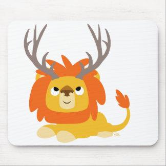 Cartoon Antlered Lion mousepad